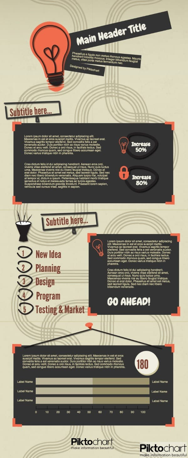 creative idea infographic template