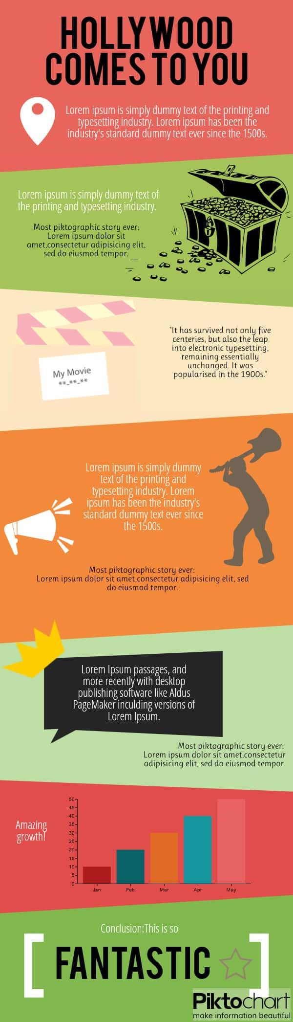 treasure infographic template