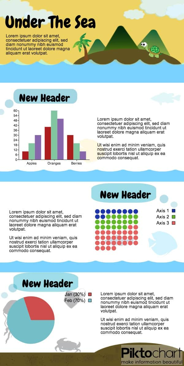 under the sea infographic template