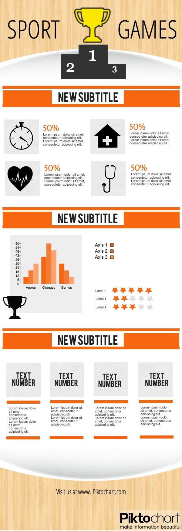 sports infographic template