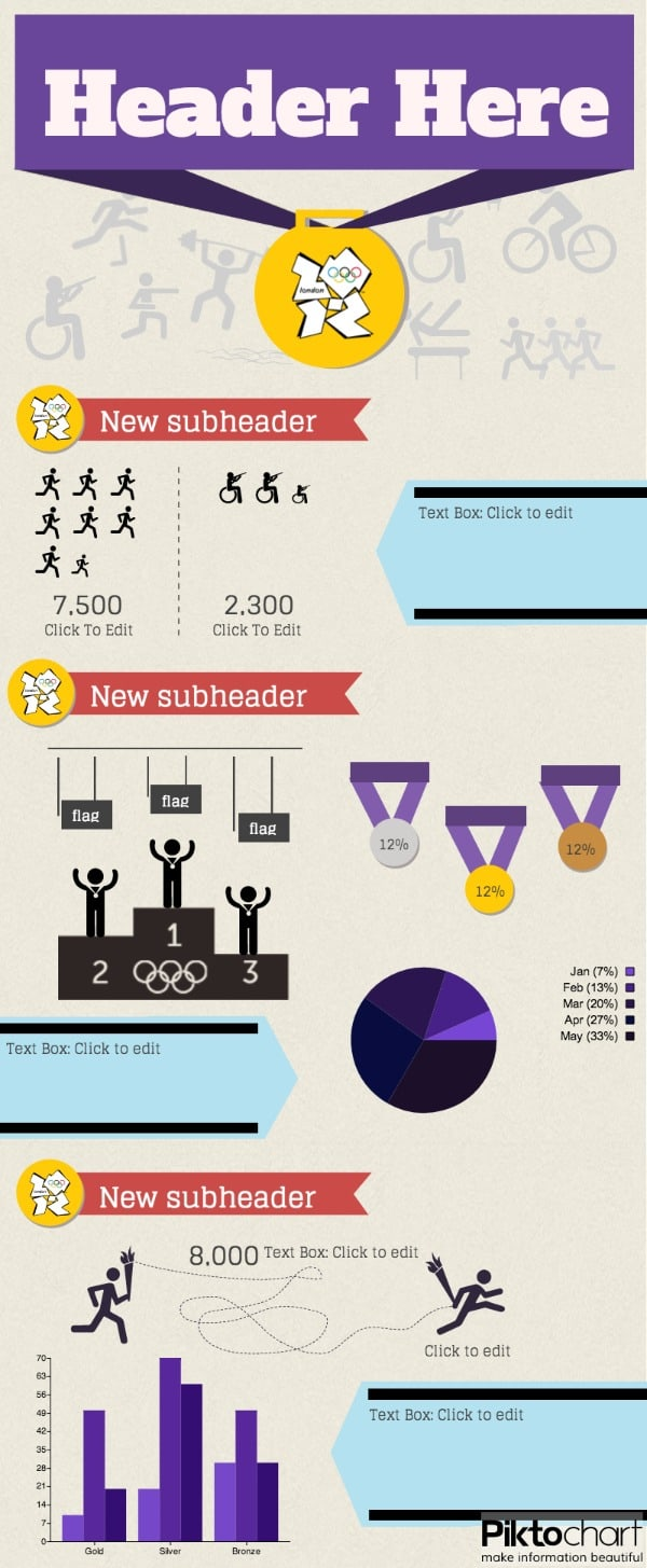 medals and ranks infographic template
