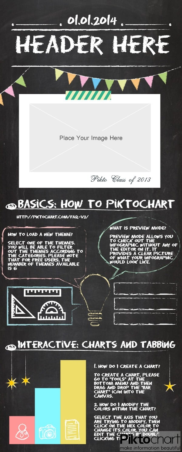 chalkboard infographic template