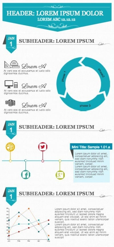 circle flow infographic template