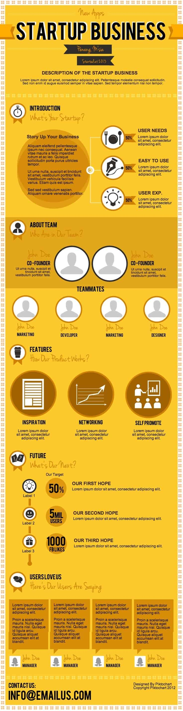 startup business infographic template