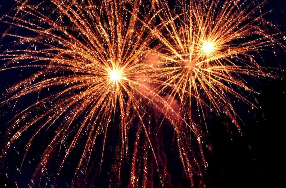 happy new year fireworks celebration