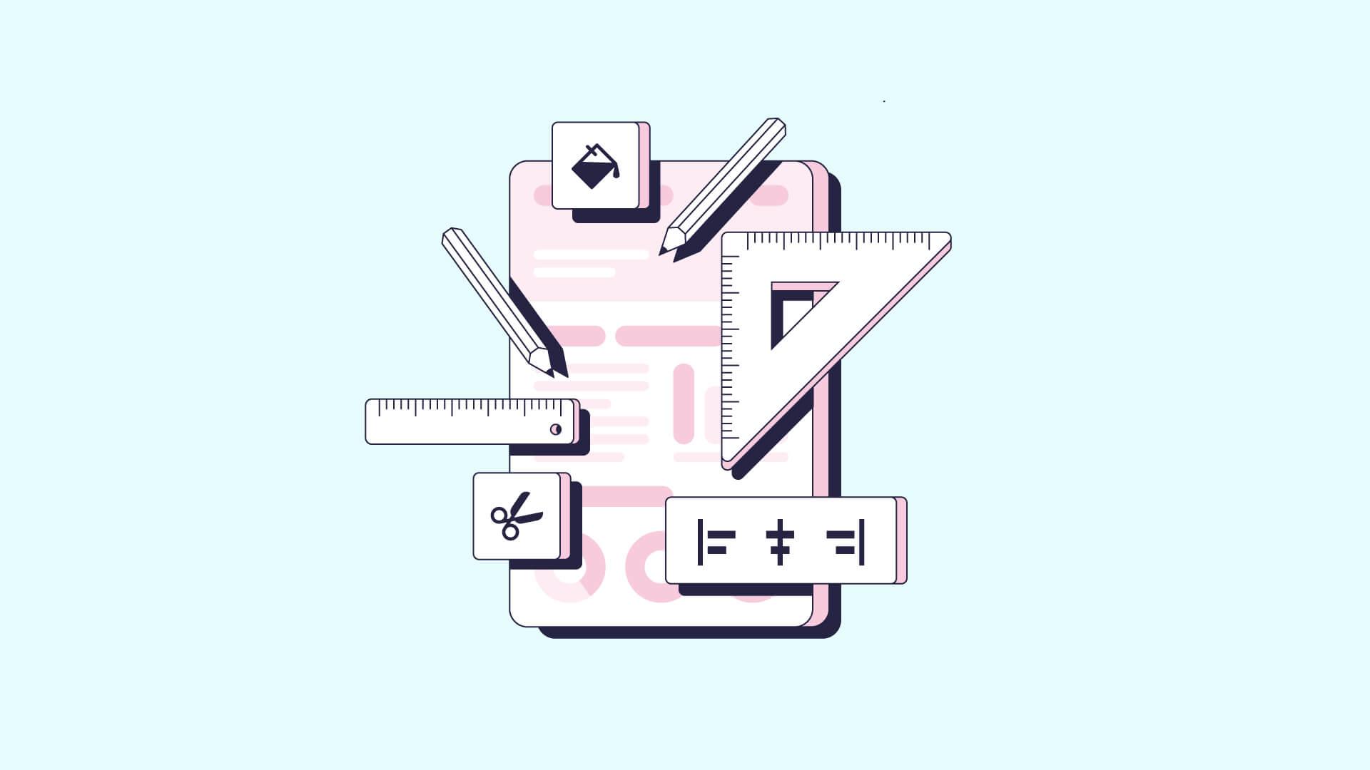 infographic layout visual arrangement header