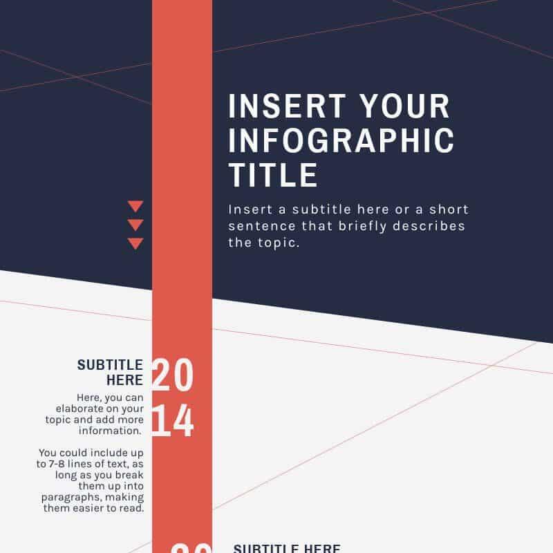 project timeline template, using visual arrangement