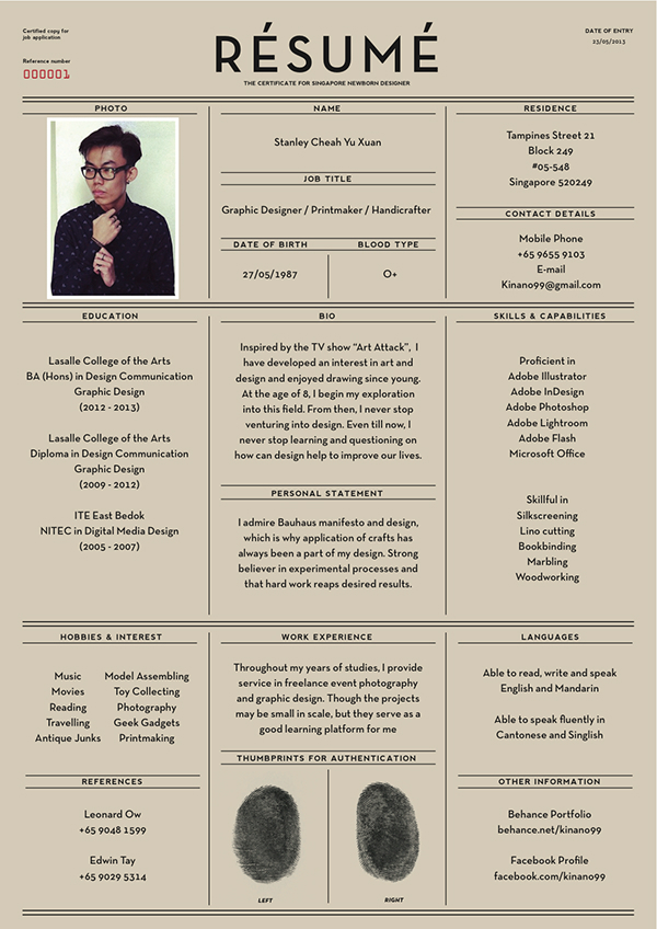 different resume formats, creative compact resume template