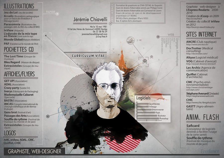artistic resume, designer resume example