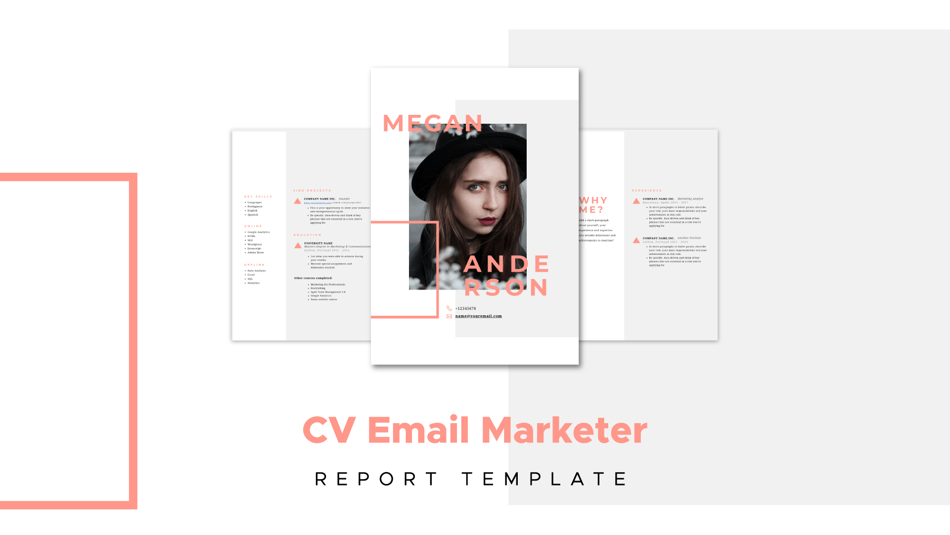 email marketer resume template