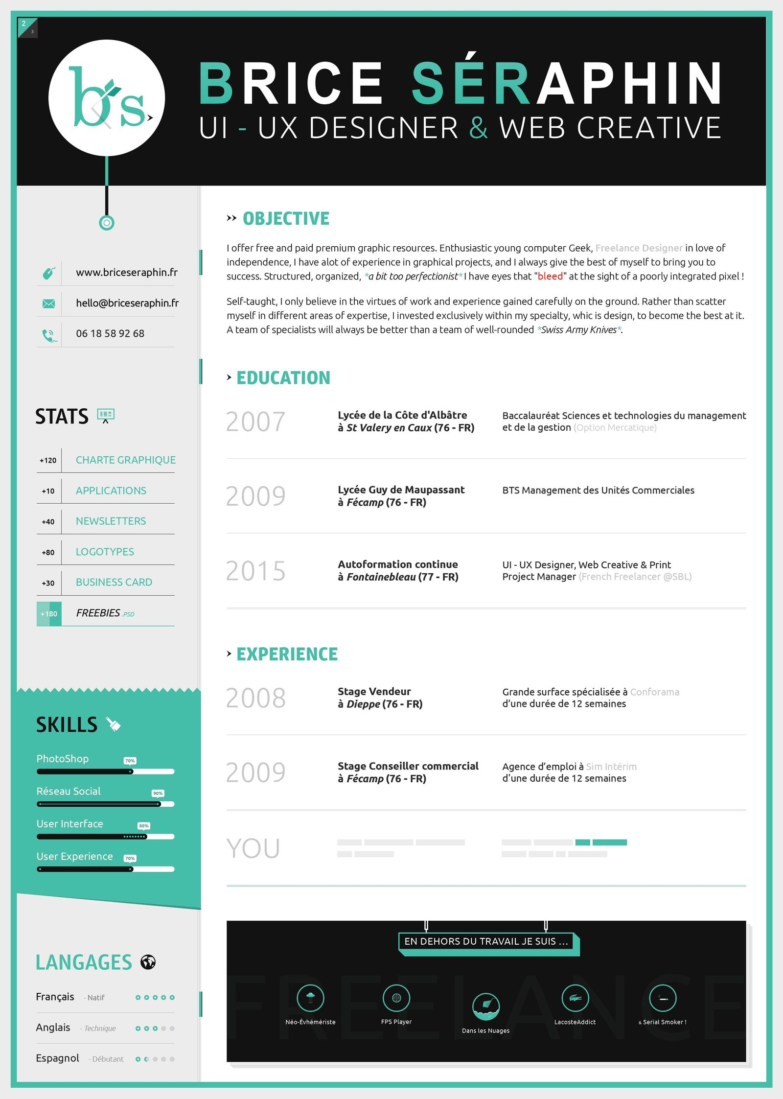 accent resume example