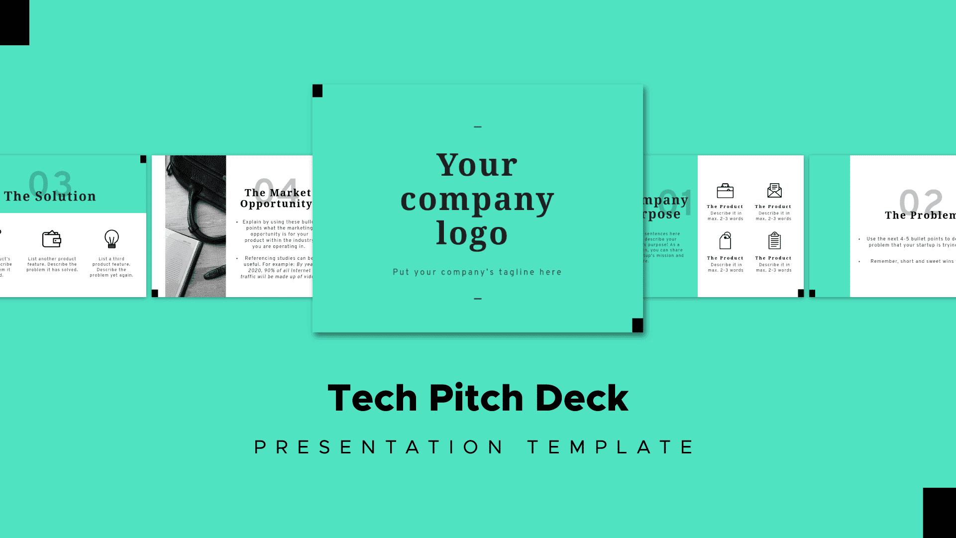 tech pitch deck template