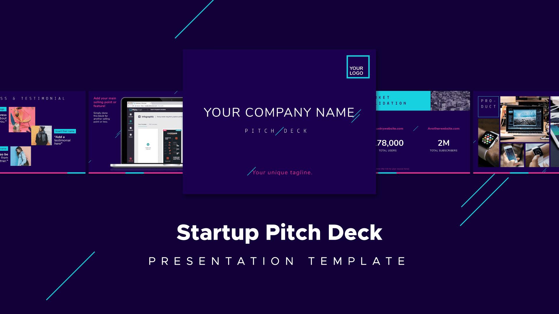 startup pitch deck template, presentation template
