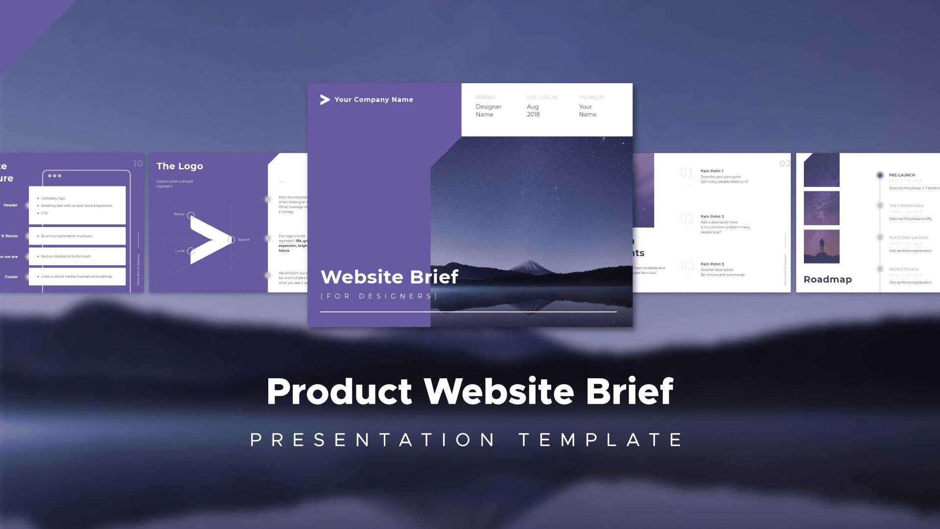 website brief, product brief
