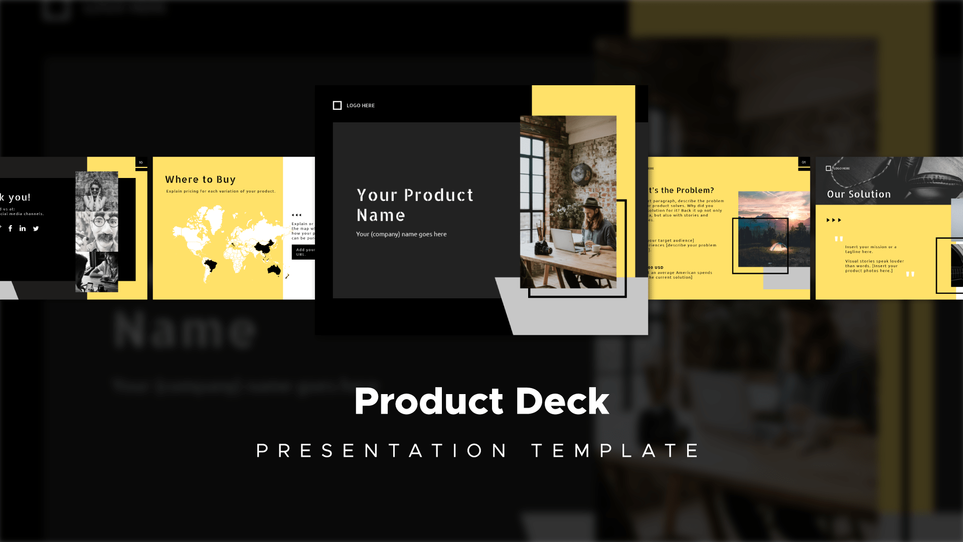 product deck template