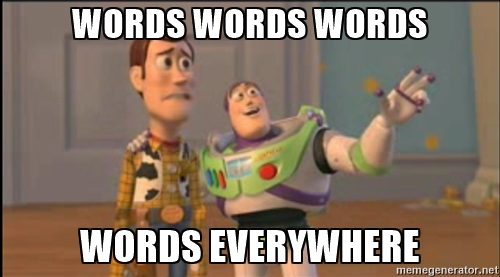 meme on words, wordy syllabus