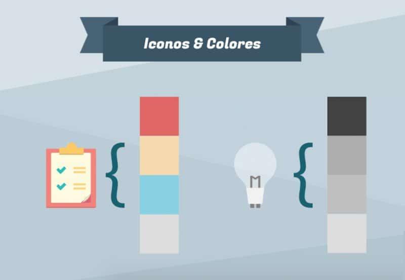 iconos y colores, infografia online