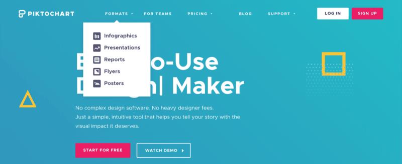 creador de infografías, cómo usar infographic maker, formatos infográficos