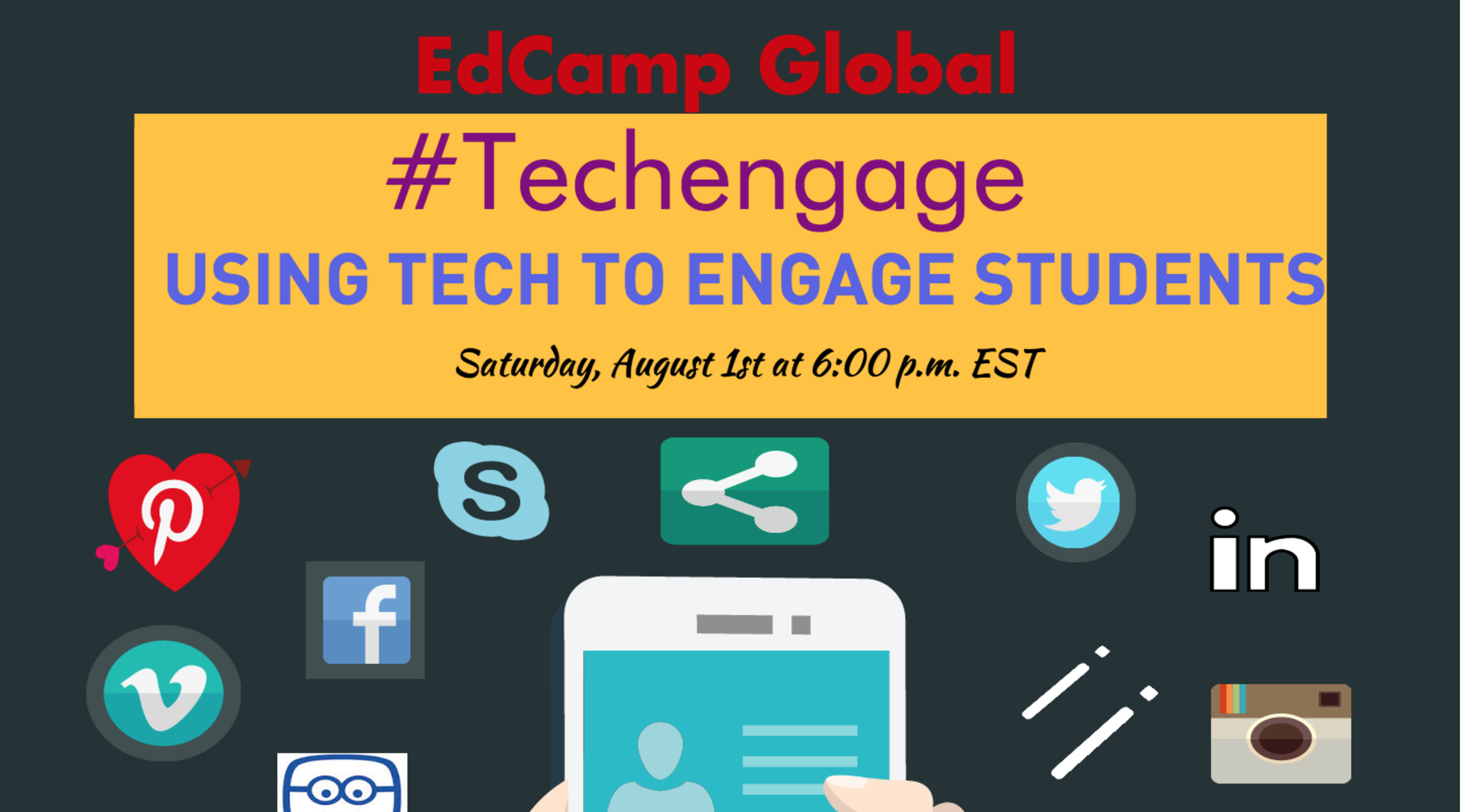 edcamp poster, how to use technology to engage students