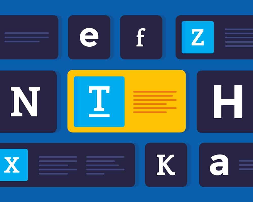 combinar tipografias