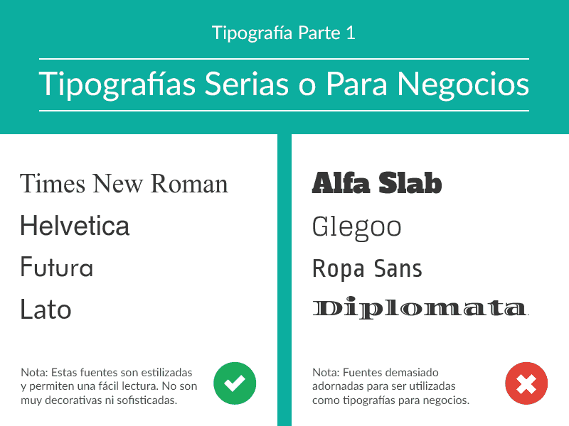 tipografías serias, tipografía para negocios, tipografía en infografía