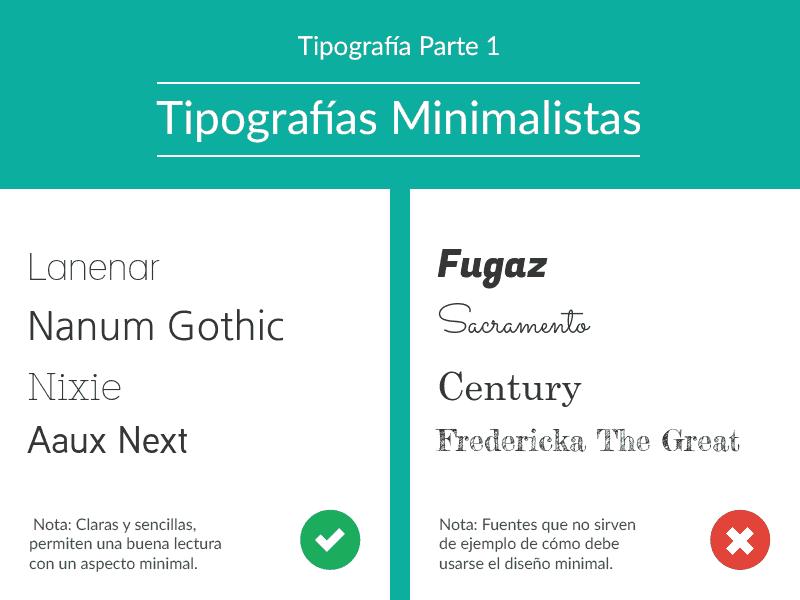 tipografía minimalista, fuentes de letras