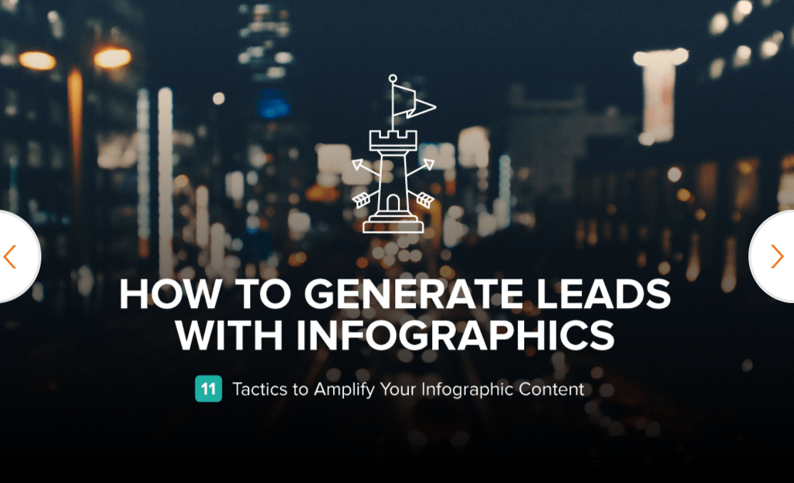 generate leads using infographics