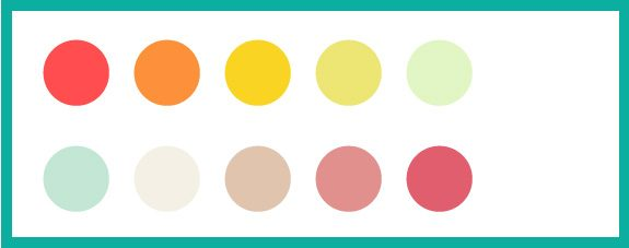 paleta de colores primavera