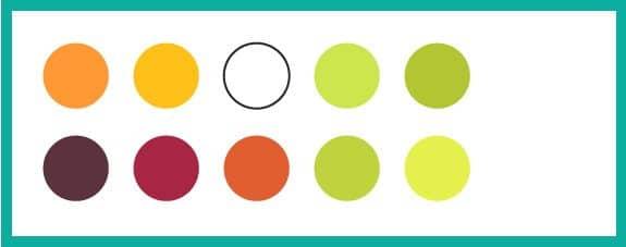 paleta de colores verano
