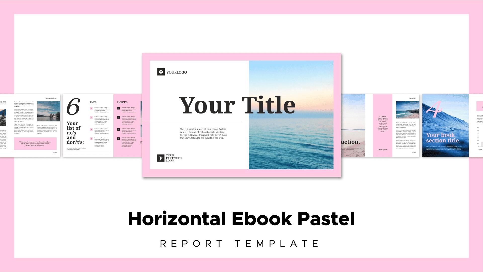 pastel theme ebook template