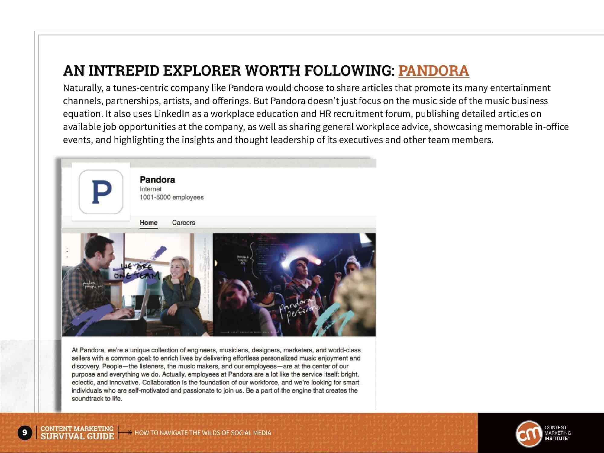 pandora linkedin case study, content marketing example