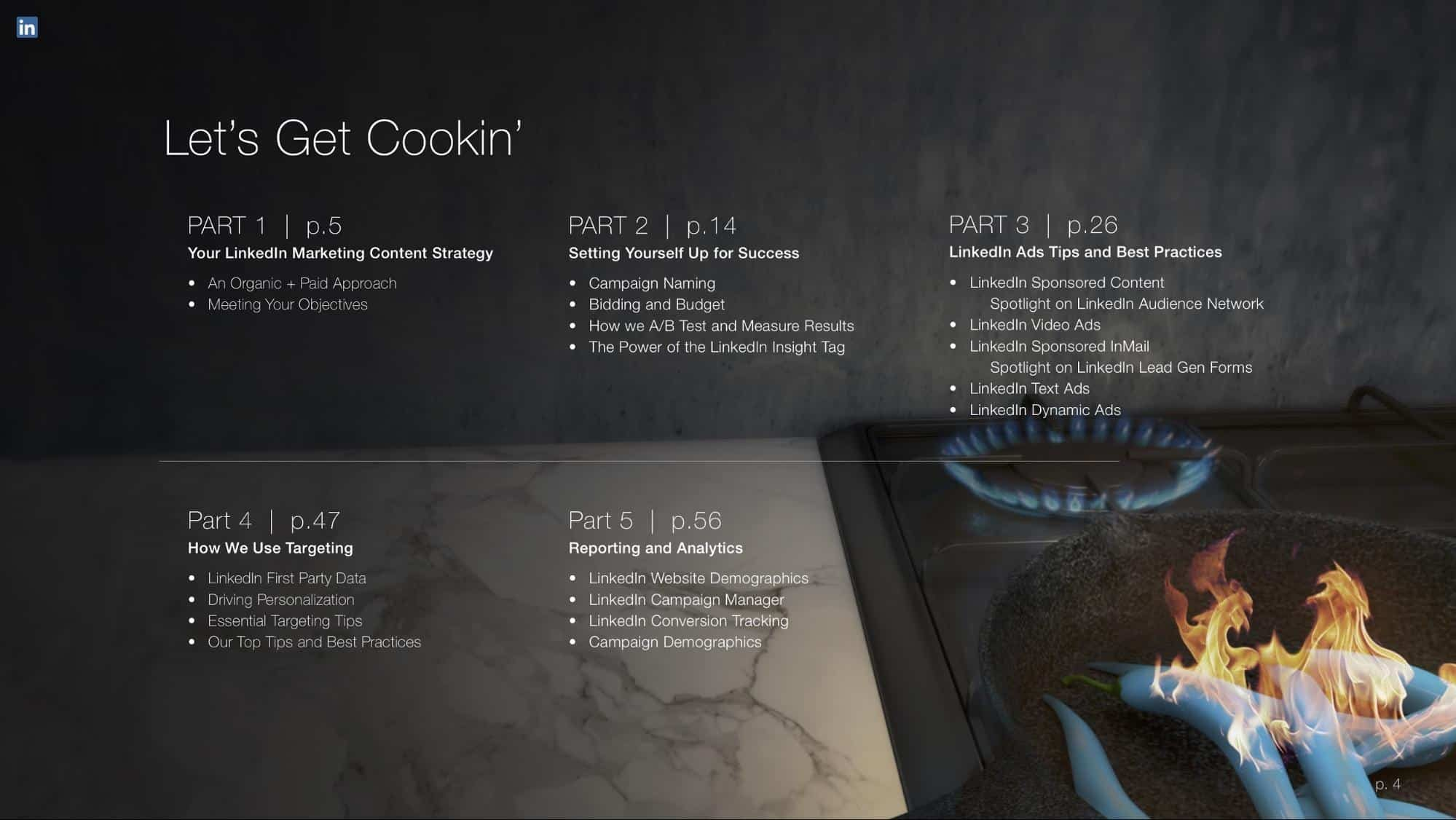 free ebook theme example, contents page format example