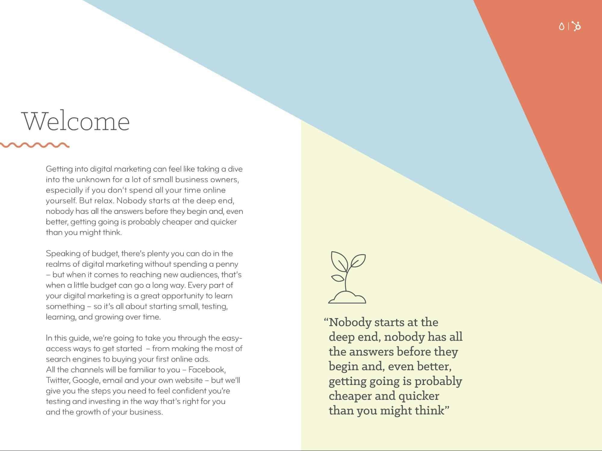 geometrical theme ebook ideas, geometrical page design example