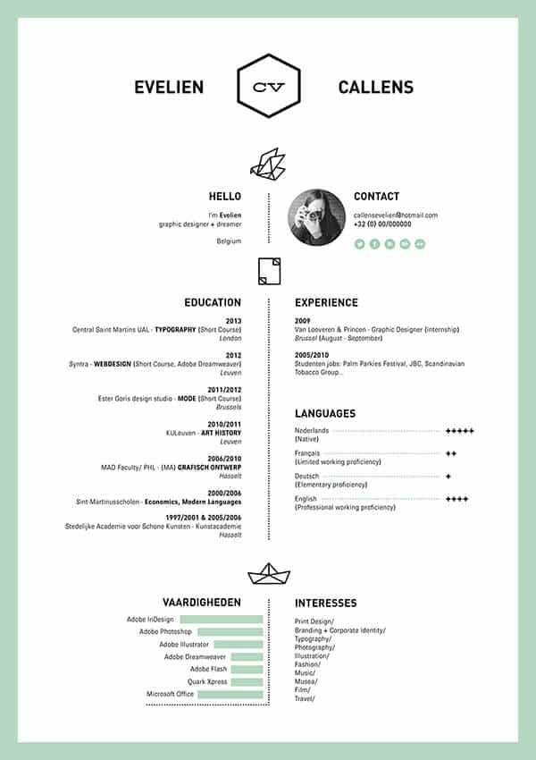 easy to read resume example