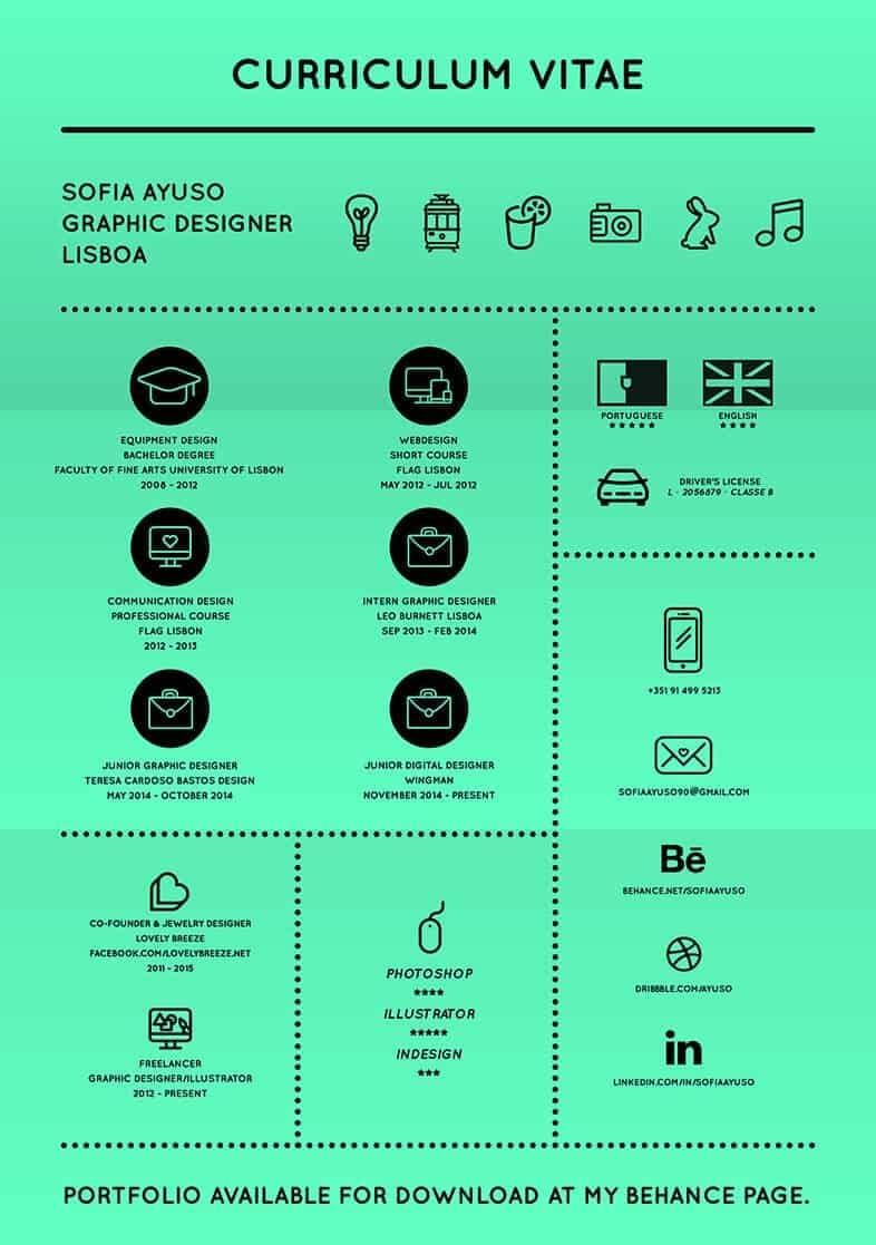 graphic designer infographic cv, creative infographic resume template