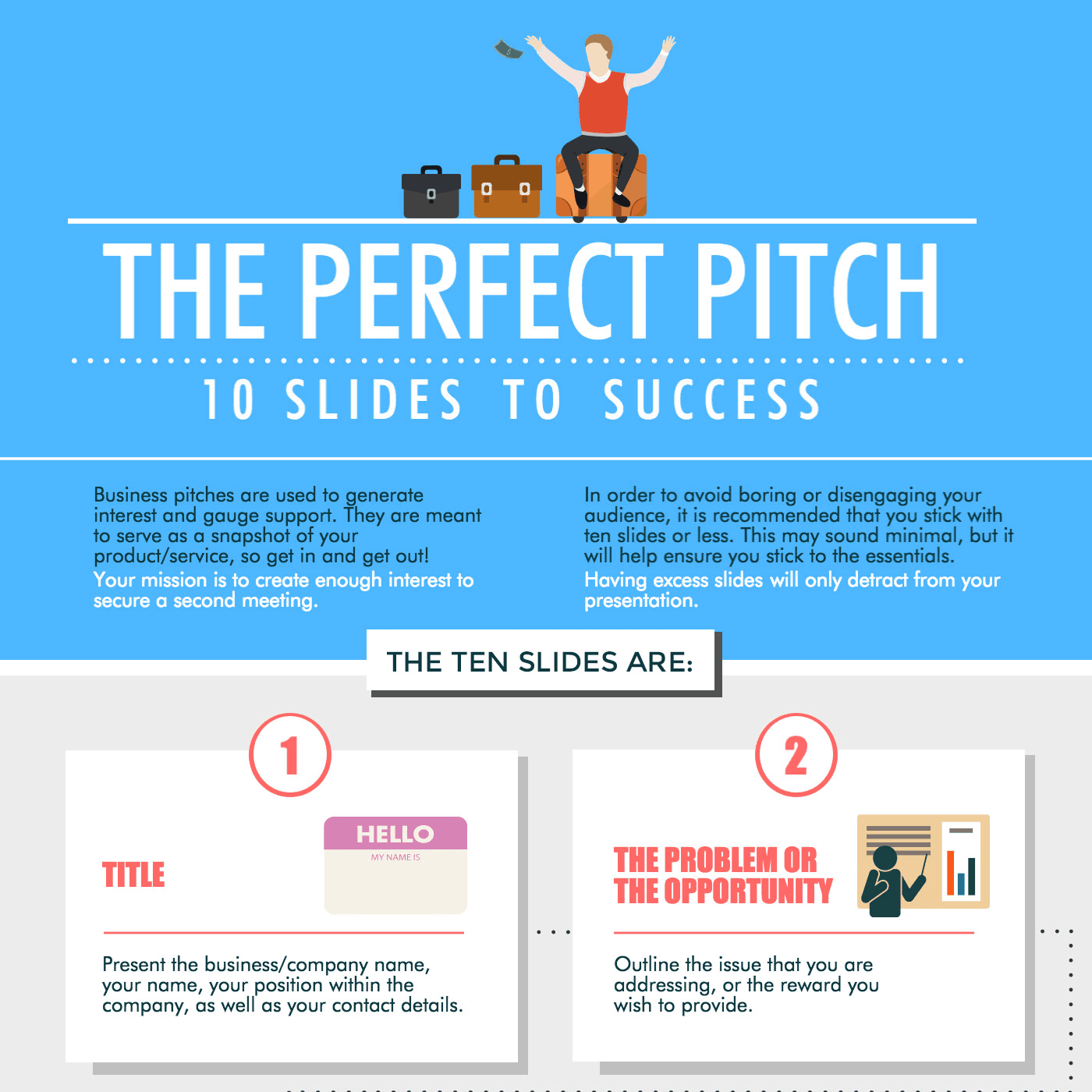 the perfect pitch, success infographic