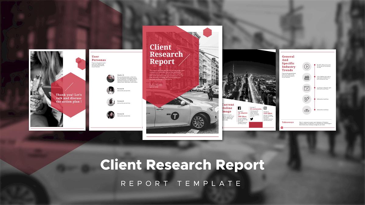 client management report, client report template