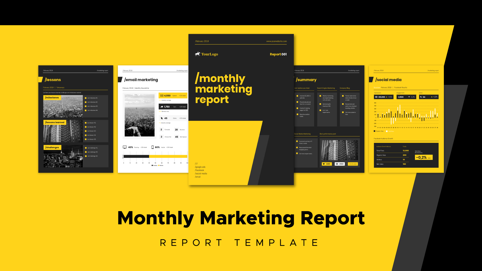 marketing report, client reports