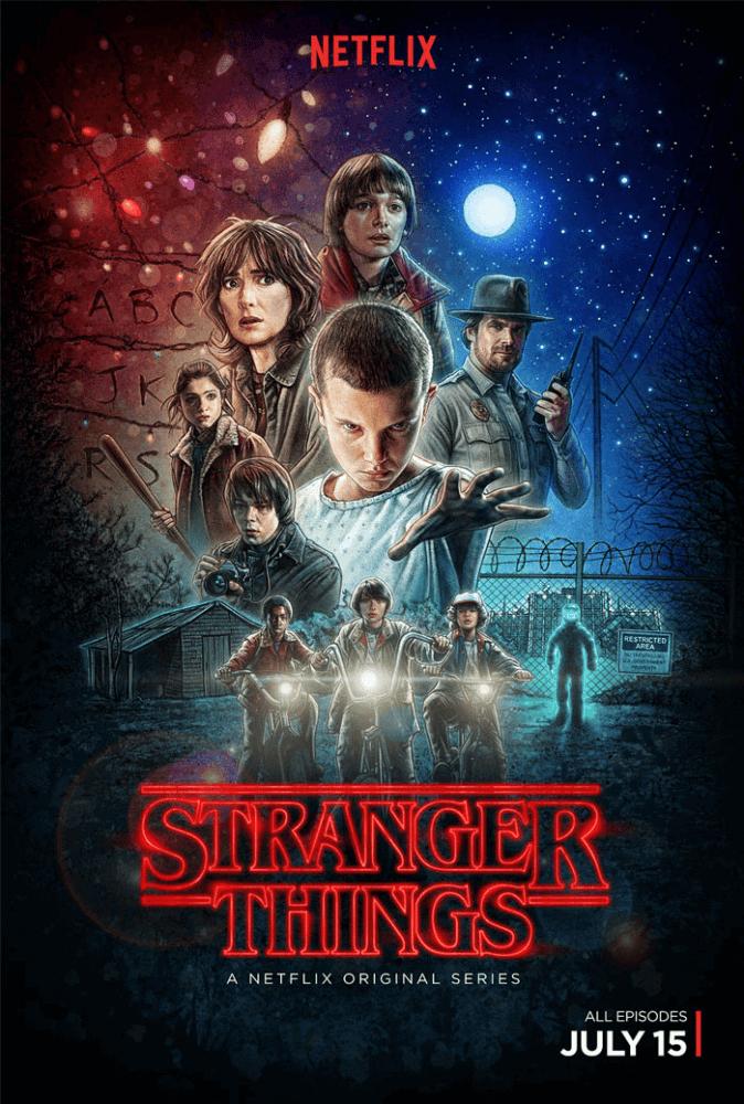 poster example, stranger things