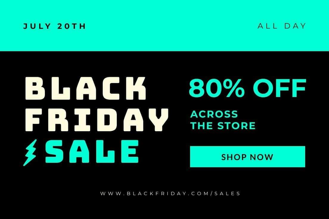 Black Friday Promo Linkedin Post Piktochart