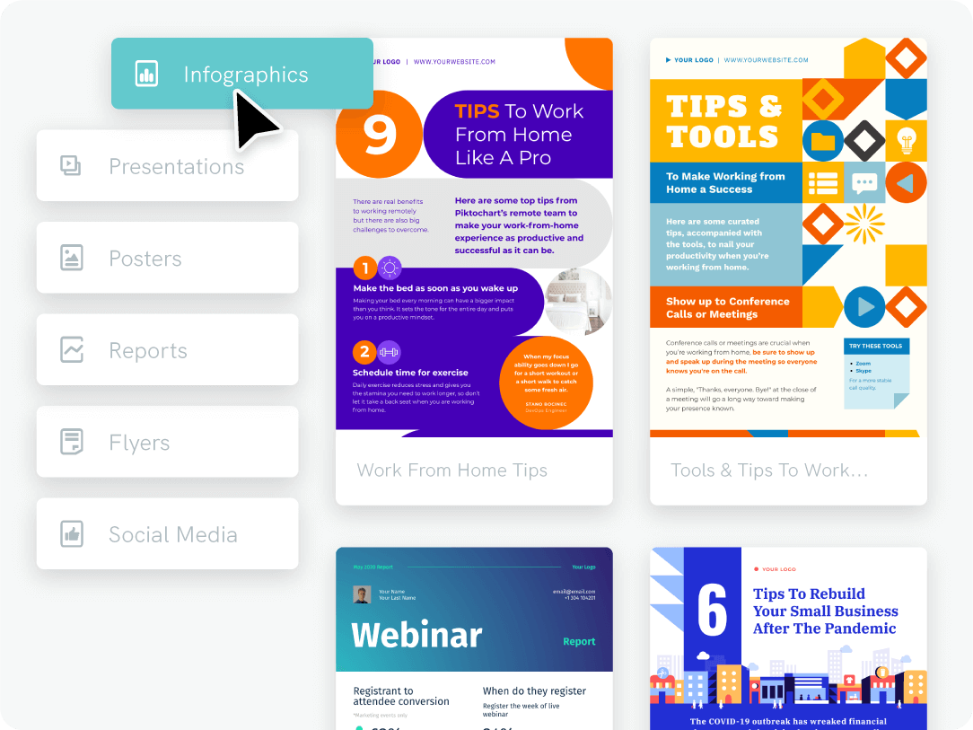 Infographic benefit template library