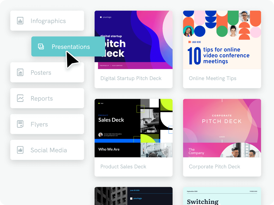 Presentation template library benefit