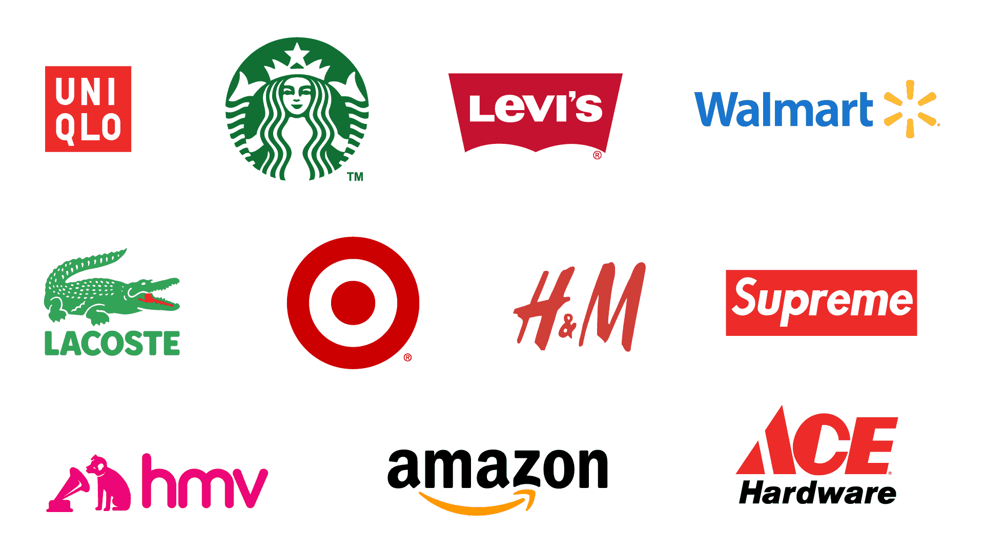 popular retail logos