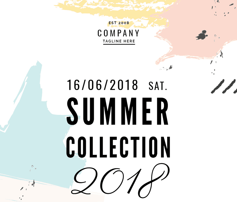 retail summer collection poster template, pastel retail poster example
