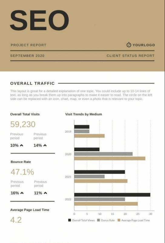 SEO Report example