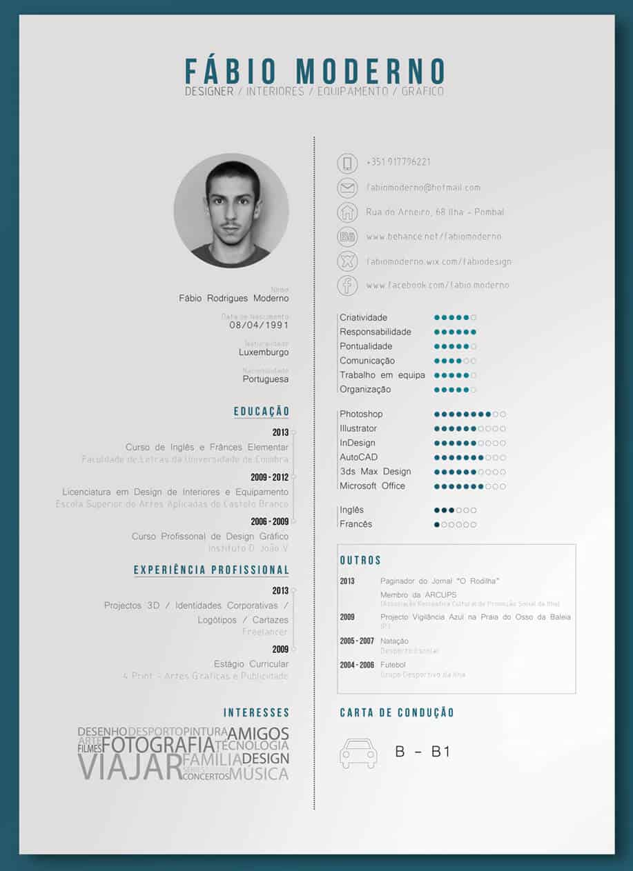 clean graphic resume example