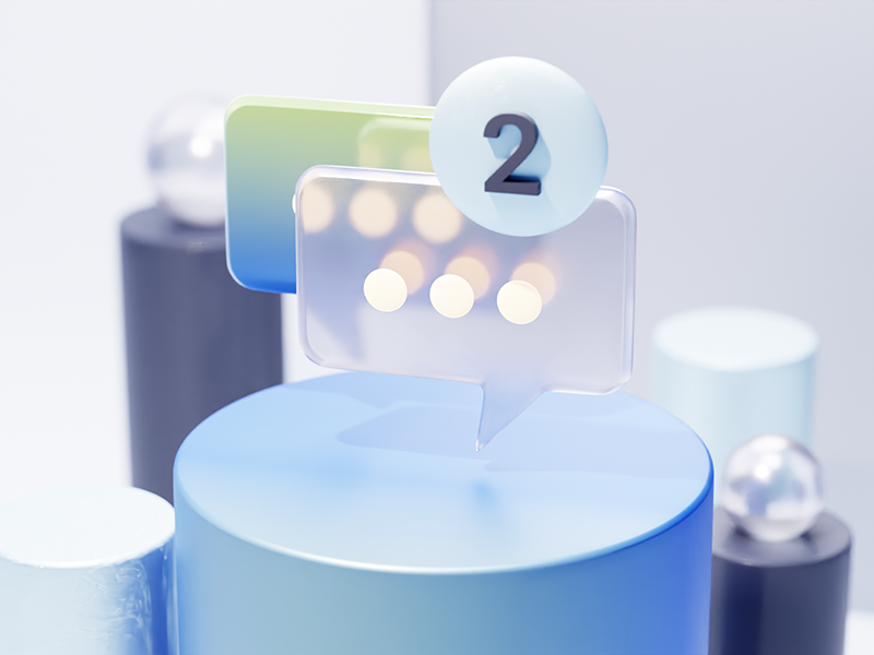 chat 3d icon