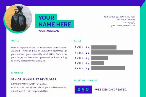 Creative Resume 3 template thumbnail