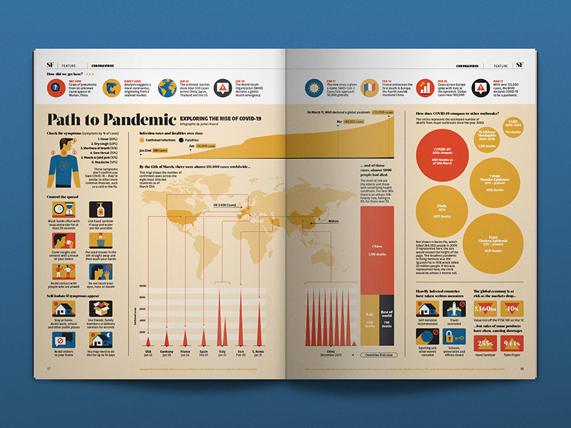 data visualization, pandemic guide examples