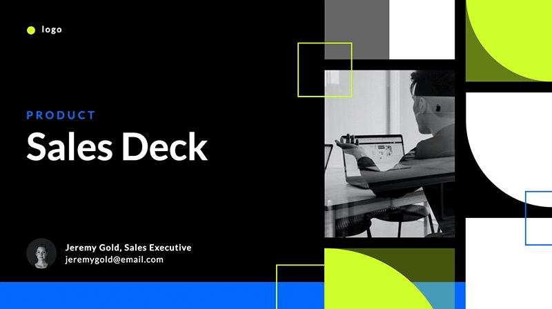 full color sales deck